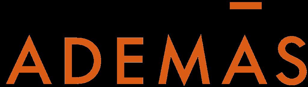 Ademas schriftzug_orange_cmyk